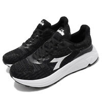Diadora Black White Mens Running Shoes Athletic Trainers DA71115