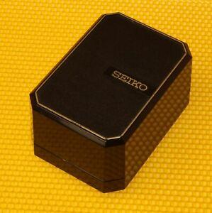 "Vintage SEIKO Presentation Watch Box BLACK ""I-CM61U"" MADE🇺🇸USA"