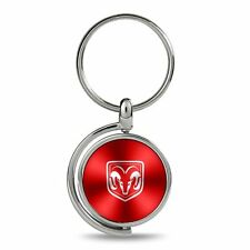 Dodge RAM Red Brushed Metal Spinner Key Chain