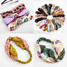 Fashion Women Print Turban Twist Hairband Headband Cross Elastic Hair Band Hoop