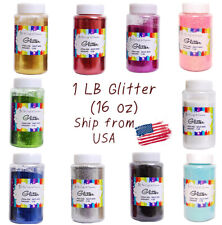 Craft Glitter Bottle Plastic Shaker Bottle Choose color 16oz. (1lb)