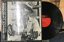 """MANCE LIPSCOMB """"Texas Sharecropper And Songster"""" 12"""" Blues LP w/ lyric booklet"""