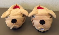 Boys Wiggle Warmers Brand Plush Dog Slippers Size Large 9-10 Boys Shoe Slippers