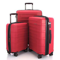 """HAUPTSTADTKOFFER Ost 20""""24""""28"""" Luggage Suitcase Set Travel Bag TSA Trolley Red"""