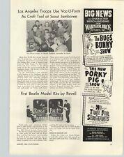1964 PAPER AD Article Revell Model Kit Ringo Starr Paul McCartney The Beatles