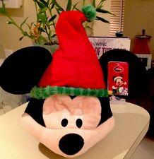Disney Animated Mickey Mouse Singing Christmas Plush Hat! New