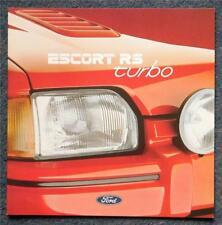 FORD ESCORT RS TURBO Car Sales Brochure Aug 1987 #FA816