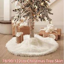7890122cm white christmas tree skirt stand apron ornaments party home decor - White Christmas Tree Skirt