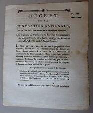 1077# DECRET TRADUIT A LA BARRE COMMISSAIRE DEPARTEMENT EURE 1793 AUBE SIGNE