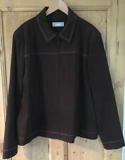 Brown Smart Wallis Ladies Jacket/Size 14/Workwear/Casual/Zip Up Front/Classic