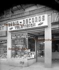 1940s+NYC+Radio+Television+Records+Store+Neon+Sign+Film+Photo+Camera+Negative+BB