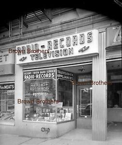 1940s NYC Radio Television Records Store Neon Sign Film Photo Camera Negative BB