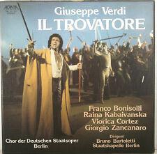 VERDI IL TROVATORE BONISOLLI KABAIVANSKA CORTEZ BRUNO BARTOLETTI 3-LP BOX (c404)
