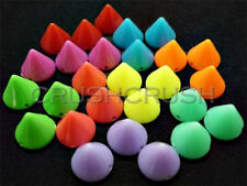 50pcs 12mm Assorted Hot Color Acrylic Cone Spikes Beads Charms Pendants X104