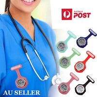 Digital Silicone Electric Multi-Function Nurse Brooch Watch FOB Pocket Watch AU