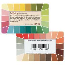 "Farbpass Frühling ""Loop"" - Plastikkarte mit 44 Farben"