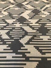 Fabric Remnant Light Dark Grey Geometric Tetris 197x141cm