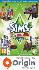 THE SIMS 3 70's, 80's & 90's STUFF PACK PC AND MAC ORIGIN KEY