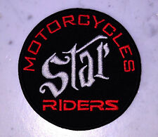 STAR MOTORCYCLES RIDERS IRON ON PATCH Aufnäher Parche brodé yamaha STARS toppa