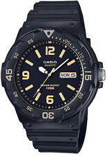 Casio MRW-200H-1B3V Analog Watch Black and Gold 100m WR Day Date Display New
