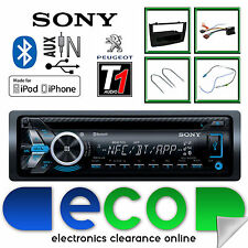 PEUGEOT 308 SONY CD MP3 USB Bluetooth Vivavoce Stereo Nero Fascia Panel KIT