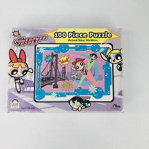 Vintage Year 2000 Powerpuff Girls 100 Piece Jigsaw Puzzle Complete