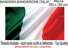 BANDIERA ITALIANA ITALIA TRICOLORE cm. 250 x 150 Italy Flag MAXI BANDIERONE
