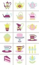 Slice Tea Party Fabric Design Card - Pieced Shapes Fabrique banners, scrapbook
