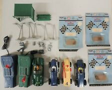 LOT OF VINTAGE MARX 1/32 SLOT CARS AND PARTS