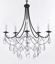 "Empress Crystal (tm) Wrought Iron Chandeliers Chandelier Lighting H.22.5""xW.26"""