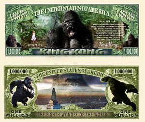 KING KONG - BILLET MILLION DOLLAR US ! Serie Cinema Film Aventure Gorille Animal