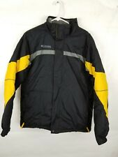 Youth Columbia Sport Wear Winter Jacket Size 18/20 Black Gray Yellow Super Warm