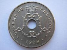 Belgium 1906 copper nickel 5 Centimes A UNC