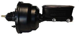 "BLACK 7"" Dual Diaphragm Booster Wilwood Tandum Aluminum Master 1 1/8"" Black"