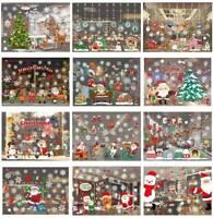 Frohe Weihnachten Kunst Fenster Wandaufkleber Vinyl Schneeflocken cRUWK eNwrg