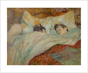 Toulouse-Lautrec - The Bed - fine art giclee print wall art various sizes