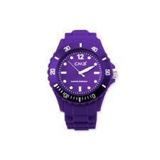 CM3 cm3-u-li38 Women's Wrist Band Watch, Silicone Bracelet Color Purple