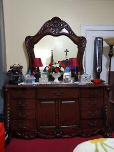 Chestnut Dresser with Mirror