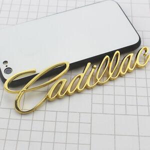 Gold Cadillac Logo Car Rear Trunk Lid Emblem for XTS CT5 CT6 ATS CTS Deville SRX