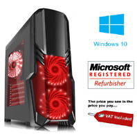 GAMING PC Computer Quad CPU i5 SSD HDD 4-16 GB RAM GT GTX GFX Windows 7 10 Wifi