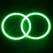 2x Car 90mm 6000K Green COB LED Angel Eyes Halo Ring with Cover Fog light