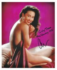 CRISTY THOM 02/1991 PLAYBOY PLAYMATE SEXY SIGNED PHOTO  (IN2)