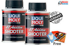 LIQUI MOLY 4T Shooter  4 Stroke Motorcycle Fuel System Cleaner Additive 80ml x 2