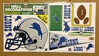 Detroit Lions NFL Football self-stick WALL DECORATIONS by Color Clings