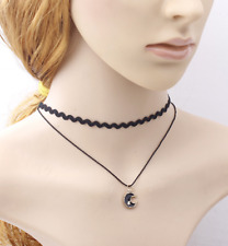 Moon Choker Lace Retro Gothic Star Collar Halloween Neck Costume Necklace