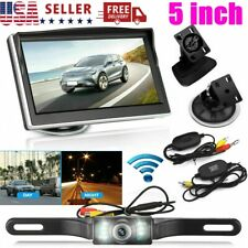 Wireless Car Backup Camera Rear View System With Night Vision& 5