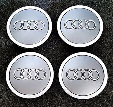 Audi Wheel Center Hub Cap Silver Emblem Badge Logo 69mm 4B0601170A, 4 pieces