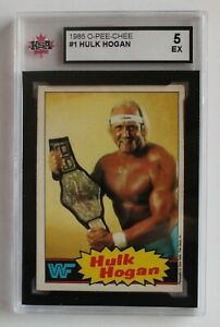 1985 OPC O-Pee-Chee Hulk Hogan #1 KSA 5 EX