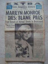 MARILYN MONROE Aug 6, 1962 LA TIMES newspaper EXTRA cover magazine Death Dead