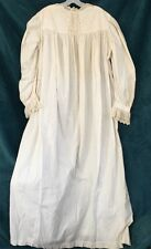 Vintage Victorian Country White Lace Eyelet Nightgown Antique Nightshirt Robe?